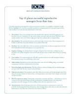 Tài liệu Top 10 places successful reproductive managers focus their time doc
