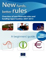 Tài liệu Newfunds, better rules - Overview of new financial rules and funding opportunities 2007-2013 pptx