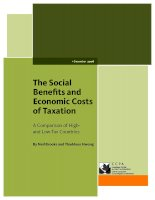 Tài liệu The Social Benefits and Economic Costs of Taxation doc
