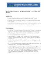 Tài liệu DEA Position Paper on Ambient Air Pollution and Health doc