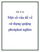 một số vấn đề về sử dụng quặng photphat nghèo