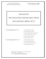 Tài liệu Chuyên đề phương pháp giải phương trình bất phương trình vô tỉ pptx