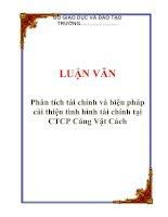 Tài liệu LUẬN VĂN: Phân tích tài chính và biện pháp cải thiện tình hình tài chính tại CTCP Cảng Vật Cách docx