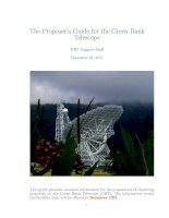 Tài liệu The Proposer''''s Guide for the Green Bank Telescope: GBT Support Staff pdf
