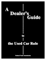 Tài liệu A Dealer's Guide to the Used Car Rule doc