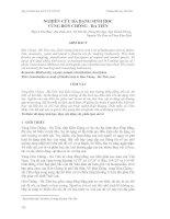 Tài liệu NGHIÊN CỨU ĐA DẠNG SINH HỌC VÙNG HÒN CHÔNG - HÀ TIÊN potx