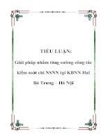 Tài liệu TIỂU LUẬN: Giải pháp nhằm tăng cường công tác kiểm soát chi NSNN tại KBNN Hai Bà Trưng – Hà Nội pdf