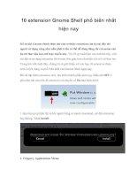 Tài liệu 10 extension Gnome Shell phổ biến nhất hiện nay pptx