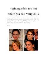 Tài liệu 4 phong cách tóc hot nhất Quả cầu vàng 2012 pdf
