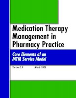 Tài liệu Medication Therapy Management in Pharmacy Practice doc