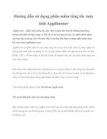 Tài liệu Hướng dẫn sử dụng phần mềm tăng tốc máy tính AppBooster docx