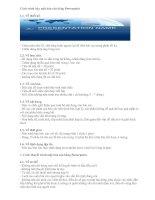 Tài liệu Cách trình bày một báo cáo bằng Powerpoint doc