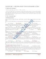 Tài liệu CHUYÊN ĐỀ 3 : PHƯƠNG PHÁP TĂNG GIẢM KHỐI LƯỢNG ppt