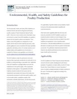 Tài liệu Environmental, Health, and Safety Guidelines for Poultry Production pptx
