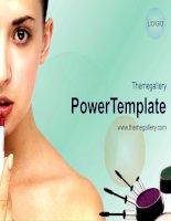 template powerpoint  592tgp makeup light