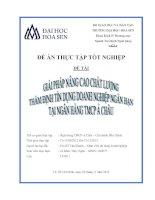 giải pháp nâng cao chất lượng thẩm định tín dụng doanh nghiệp ngắn hạn tại ngân hàng tmcp á châu