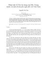 Pháp luật về thư tín dụng của mỹ, trung quốc và một số khuyến nghị đối với việt nam