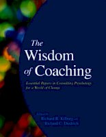 Tài liệu The wisdom of coaching: Essential papers in consulting psychology for a world of change pot