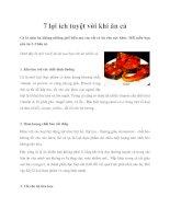 Tài liệu 7 lợi ích tuyệt vời khi ăn cá pdf