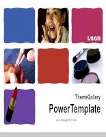 template powerpoint  579tgp makeup light