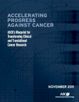 Tài liệu ACCELERATING PROGRESS AGAINST CANCER: ASCO's Blueprint for Transforming Clinical and Translational Cancer Research doc