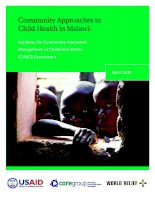 Tài liệu Community Approaches to Child Health in Malawi: Applying the Community Integrated Management of Childhood Illness (C-IMCI) Framework docx