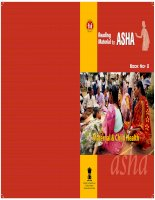 Tài liệu Reading Material for ASHA Book No-2 Maternal & Child Health ppt