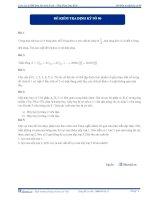 Đề kiểm tra định kỳ số 6 2013 - môn toán
