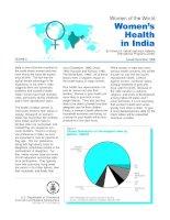 Tài liệu Women of the World Women'''''s Health in India doc