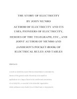 Tài liệu THE STORY OF ELECTRICITY doc
