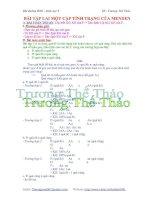 Bài tập lai một cặp tính trạng của menden