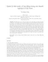 Quản lý nhà nước về lao động trong các doanh nghiệp ở việt nam
