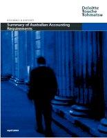 Tài liệu Summary of Australian Accounting Requirements doc