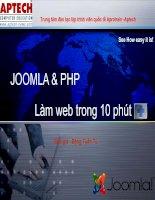 Tài liệu JOOMLA & PHP - Làm web trong 10 phút doc