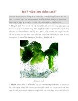 """Tài liệu Top 5 """"siêu thực phẩm xanh"""" pptx"""