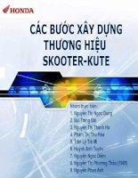 Tài liệu CÁC BƯỚC XÂY DỰNG THƯƠNG HIỆU SKOOTER-KUTE docx