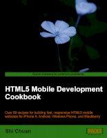 Tài liệu HTML5 Mobile Development Cookbook doc
