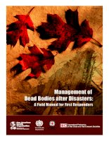 Tài liệu Management of Dead Bodies after Disasters: A Field Manual for First Responders docx