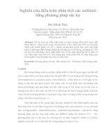 Nghiên cứu điều kiện phân tích các sulfamit bằng phương pháp sắc ký
