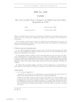 Tài liệu The Tax Credit (New Category of Child Care Provider) Regulations 1999 pptx