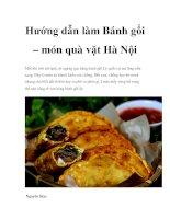 Tài liệu Hướng dẫn làm Bánh gối – món quà vặt Hà Nội pdf