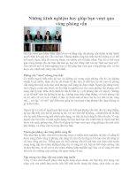 Tài liệu Những kinh nghiệm hay giúp bạn vượt qua vòng phỏng vấn pptx