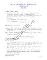 Tài liệu Đề thi thử đại học 2013 Môn Toán khối B Đề 41 pptx