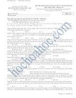 Tài liệu ĐỀ THI KHẢO SÁT CHẤT LƯỢNG LẦN II NĂM 2013 Môn: HOÁ HỌC; Khối A, B - SỞ GD - ĐT HÀ TĨNH TRƯỜNG THPT LÊ QUẢNG CHÍ - MĐT 132 pdf