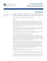 Tài liệu School-Based Bank Savings Programs: Bringing Financial Education to Students ppt