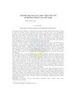 Tài liệu Thương mại hoa cắt cành trên thế giới và những vấn đề của Việt Nam doc