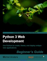 Tài liệu Python 3 Web Development Beginner''''s Guide ppt