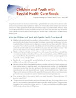 Tài liệu Children and Youth with Special Health Care Needs docx