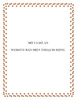 Tài liệu TIỂU LUẬN:MÔ TẢ ĐỒ ÁN WEBSITE BÁN ĐIỆN THOẠI DI ĐỘNG pptx