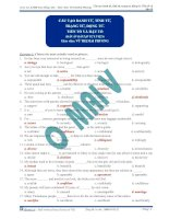 Bài tập cấu tạo từ môn tiếng anh Cấu tạo danh từ, tính từ, trạng từ, ñộng từ. Tiền tố và hậu tố